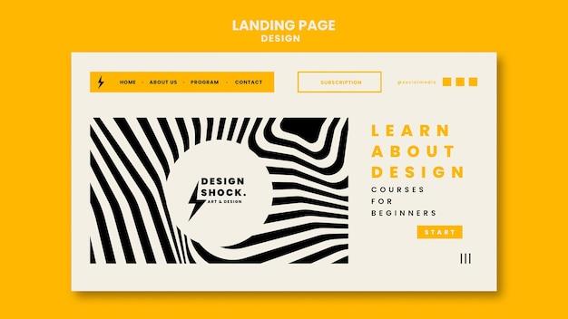 Landingpage-vorlage für grafikdesign-kurse