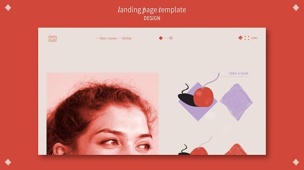 Landingpage-vorlage für grafikdesigner