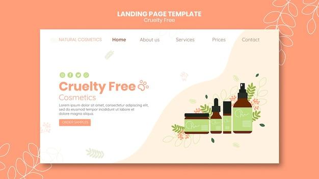 Landingpage-vorlage für grausamkeitsfreie produkte