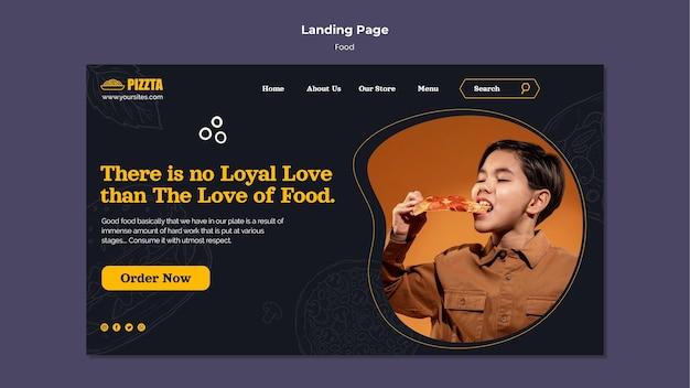 Landingpage-vorlage für gutes essen