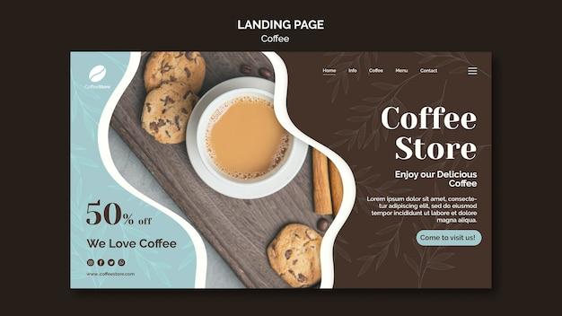 Landingpage-vorlage für kaffeestuben