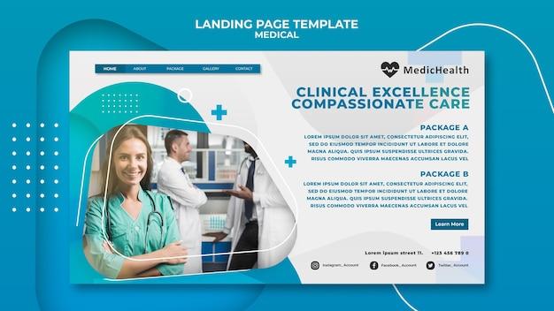 Landingpage-vorlage für klinische exzellenz