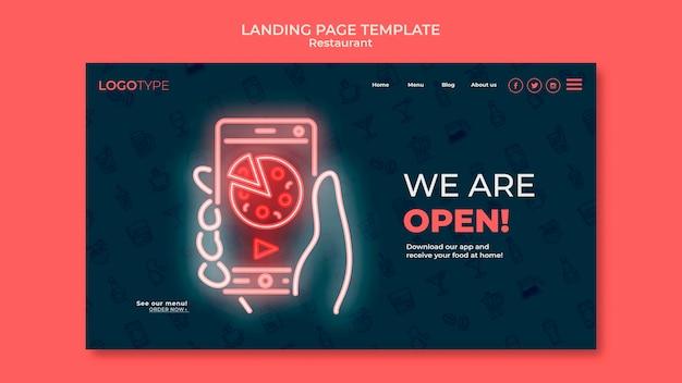 Landingpage-vorlage für lieferrestaurants
