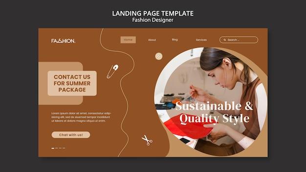 Landingpage-vorlage für modedesign