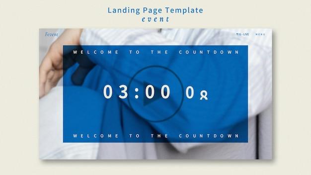 Landingpage-vorlage für modeereignisse