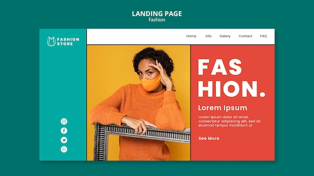 Landingpage-vorlage für modetrends
