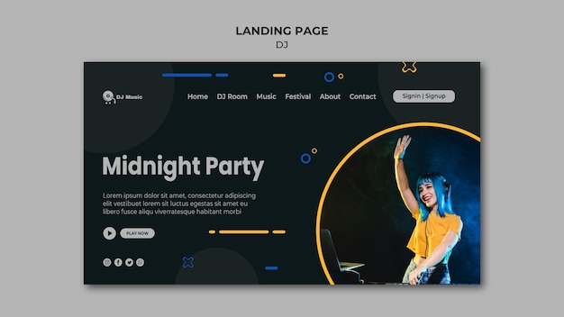Landingpage-vorlage für musikfestival
