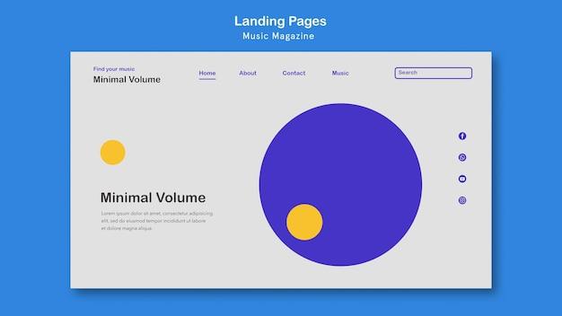 Landingpage-vorlage für musikmagazine