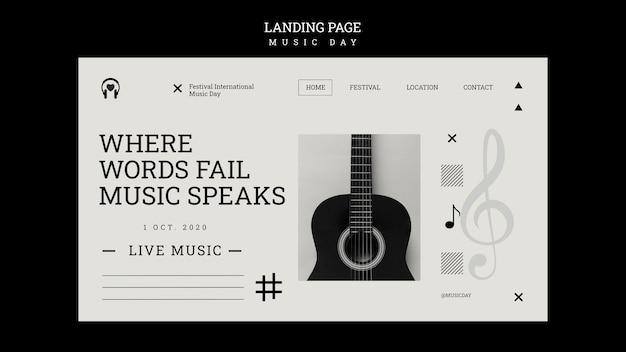 Landingpage-vorlage für musiktage