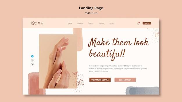Landingpage-vorlage für nagelstudio