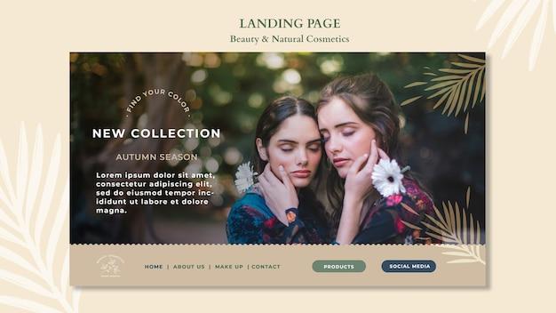 Landingpage-vorlage für naturkosmetik