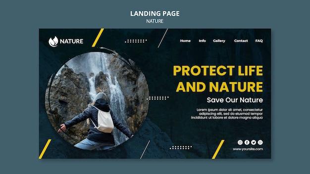 Landingpage-vorlage für naturschutz und naturschutz