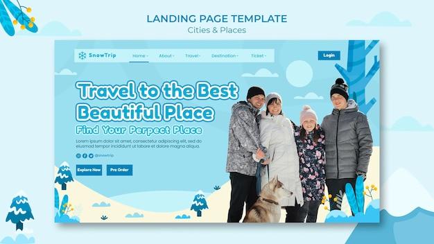 Landingpage-vorlage für neue orte erkunden