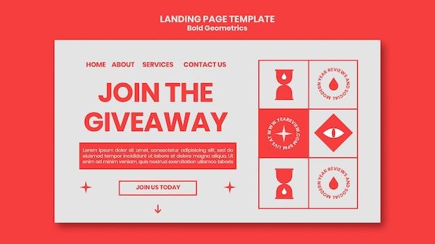 Landingpage-vorlage für neujahrsrückblick