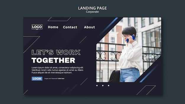 Landingpage-vorlage für professionelle unternehmen