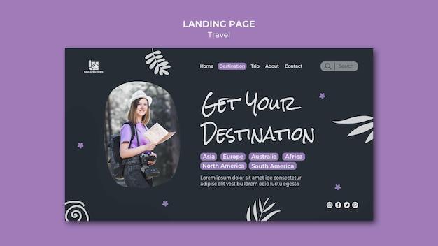 Landingpage-vorlage für reisebüros