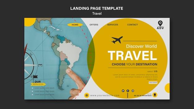 Landingpage-vorlage für reisen