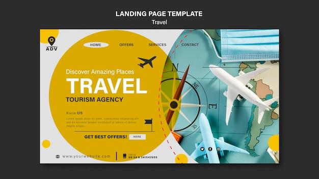 Landingpage-vorlage für reisen Premium PSD