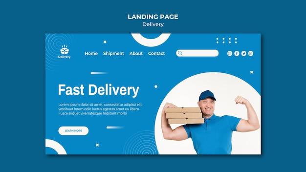 Landingpage-vorlage für schnelle lieferung