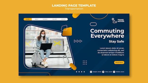 Landingpage-vorlage für sicheren transport