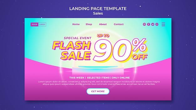Landingpage-vorlage für super sale