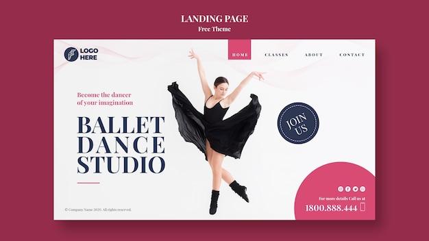Landingpage-vorlage für tanzstudios Kostenlosen PSD