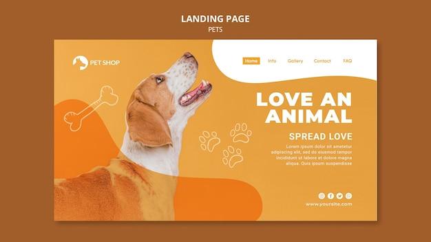Landingpage-vorlage für tierhandlungen