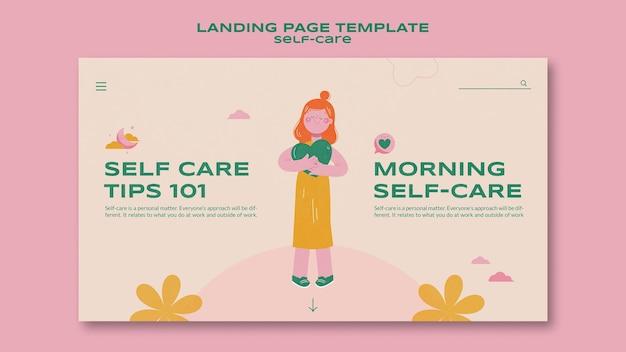 Landingpage-vorlage für tipps zur selbstpflege Kostenlosen PSD