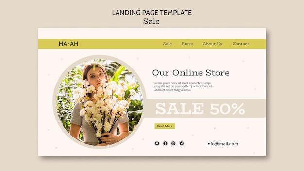 Landingpage-vorlage für verkaufsangebot