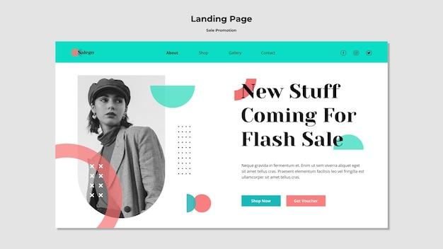 Landingpage-vorlage für verkaufsförderung