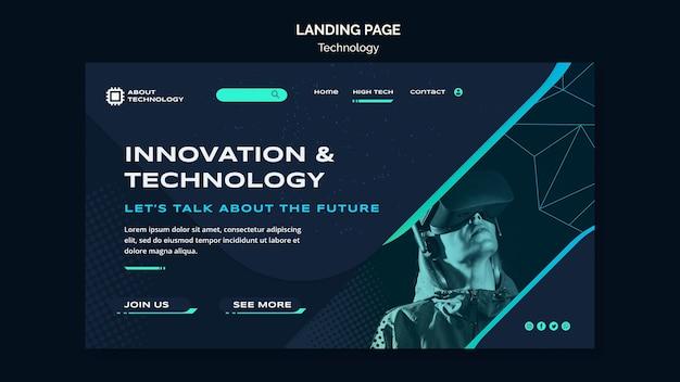 Landingpage-vorlage für virtuelle realität Kostenlosen PSD