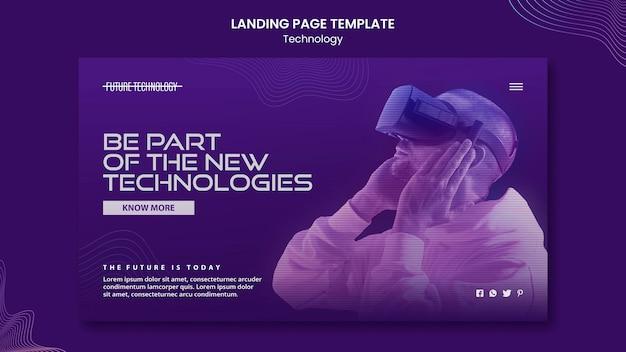 Landingpage-vorlage für virtuelle realität