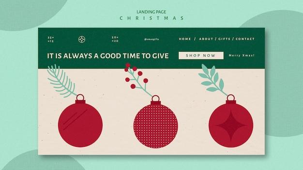 Landingpage-vorlage für weihnachten