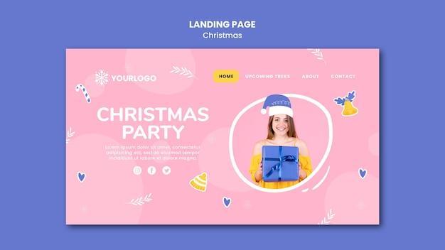 Landingpage-vorlage für weihnachtsfeier