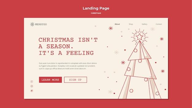 Landingpage-vorlage für weihnachtsverkauf