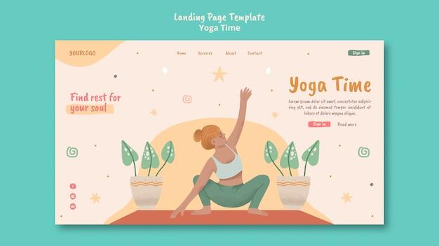 Landingpage-vorlage für yoga-zeit