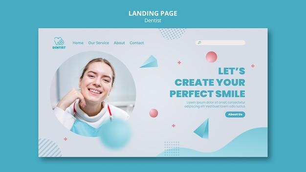 Landingpage-vorlage für zahnarztkliniken