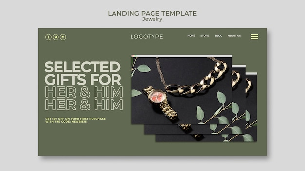 Landingpage vorlage juweliergeschäft