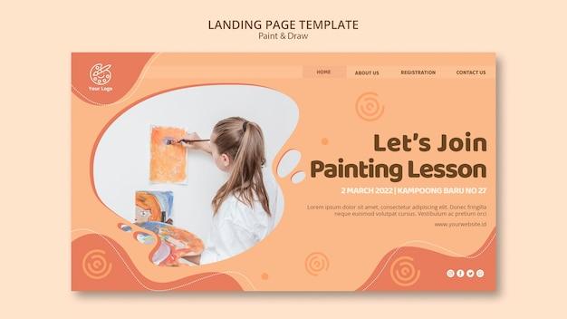 Landingpage-vorlage malen und zeichnen