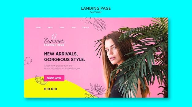 Landingpage-vorlage mit sommerschlussverkauf