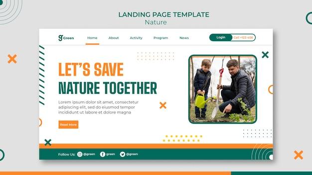 Landingpage-vorlage zum schutz der natur