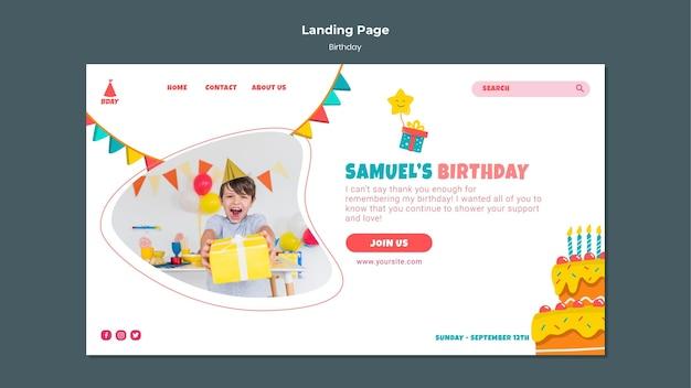 Landingpage zum kindergeburtstag