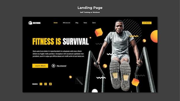 Landingpage zum selbsttraining und training