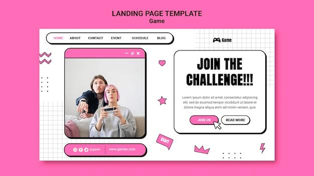 Landingpage zum spielen von videospielen