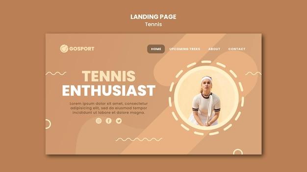 Landingpage zum tennisspielen