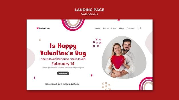Landingpage zum valentinstag mit paar