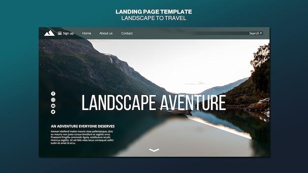 Landschaft für reisekonzept landingpage-vorlage