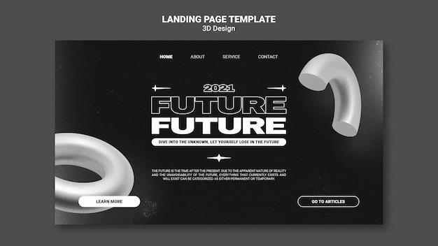 Landungsseite des 3d-designs