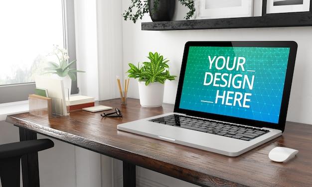 Laptop auf dem heim-desktop-modell