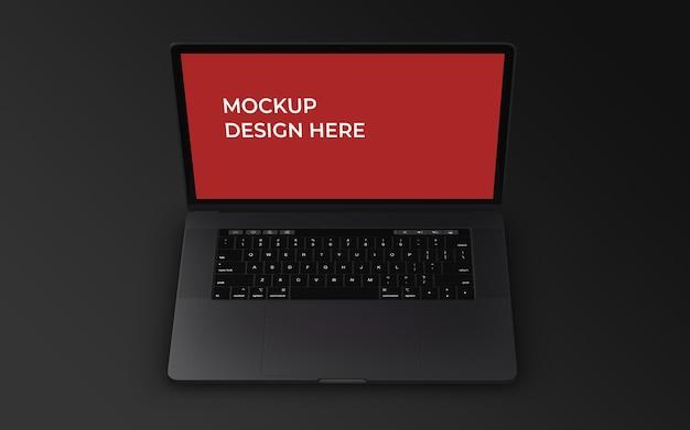 Laptop-bildschirm psd-mockup-design-vorlage